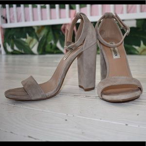 Steve Madden Taupe Suede Heels